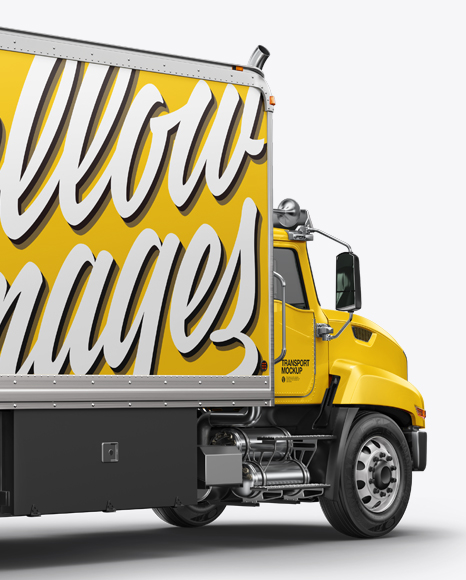 Download Box Truck Mockup - Back Half Side View - 89864+ Download ...