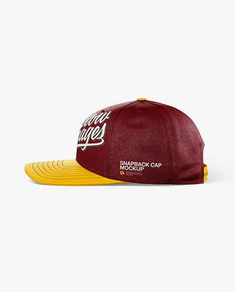 Snapback Cap Mockup - Side View