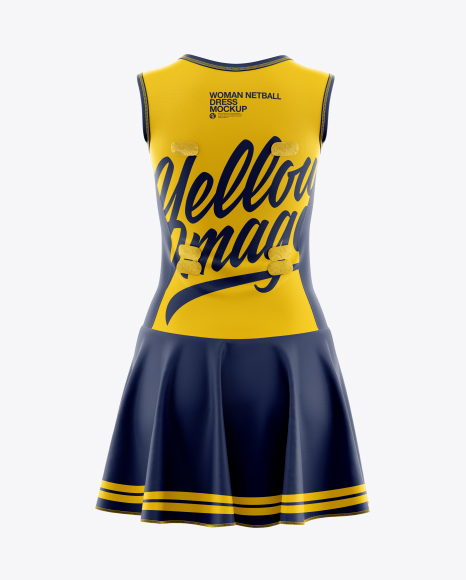 Women Netball Dress HQ Mockup - Back View