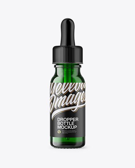 15ml Green Glass Dropper Bottle