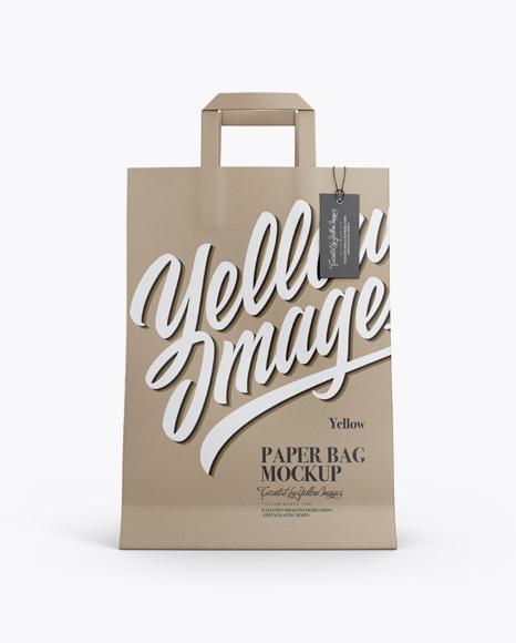 Kraft Bag w/ Label Mockup - Front View
