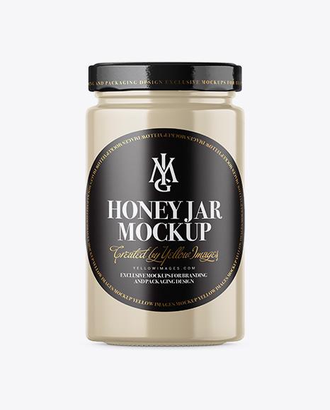 Ceramic Honey Jar Mockup
