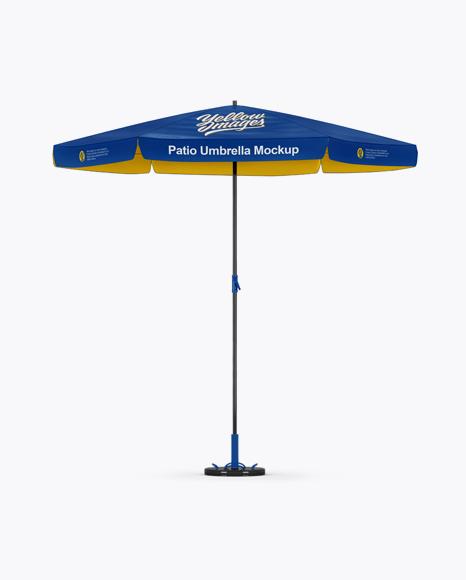 Glossy Patio Umbrella Mockup - Front View