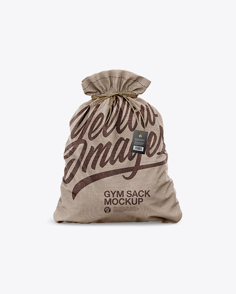 Textured Gym Sack w/ Label Mockup - Front View