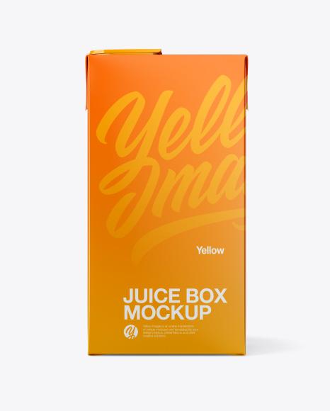 Juice Box Mockup - Front View