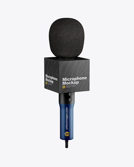 Matte Microphone Mockup - Half Side View