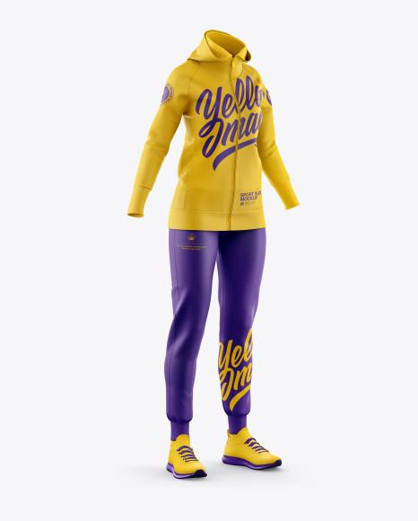 Women's Sport Suit Mockup - Half Side View