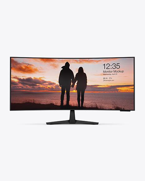 Matte Ultrawide Monitor Mockup