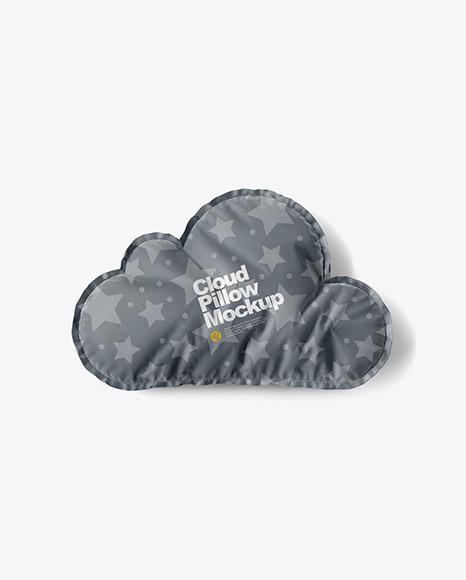 Cloud Pillow Mockup - Top View