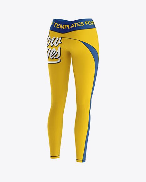 Women's Leggings Mockup - Back Half Side View