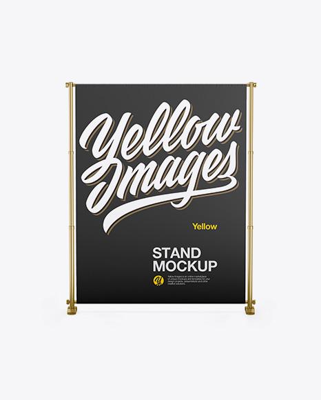 Metallic Stand Mockup