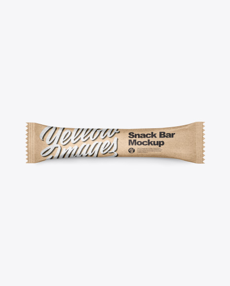Kraft Snack Bar Mockup - Top View