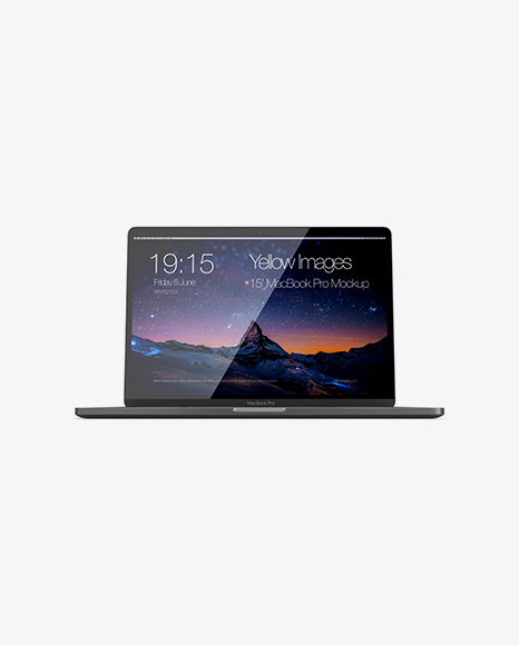 Macbook Pro Mockup - Front View (Hero Shot)