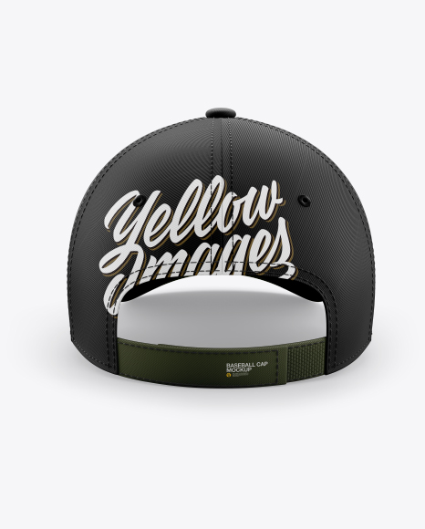 Baseball Cap Mockup - Back View