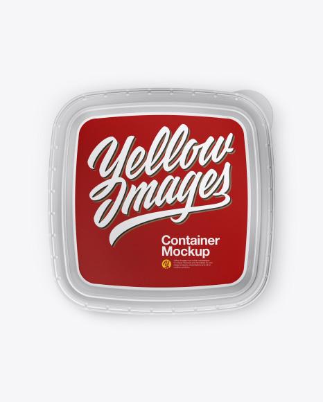 Matte Transparent Plasic Container Mockup - Top View