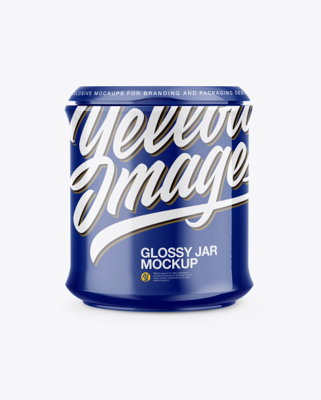 Glossy Jar Mockup - Front, Back & Side Views