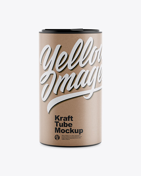 Kraft Tube Mockup - Front View