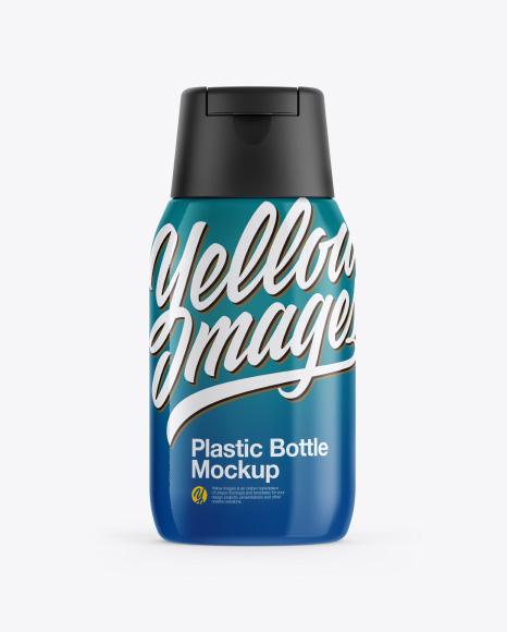 Plastic Bottle in Shrink Sleeve Mockup - Front&Side Views