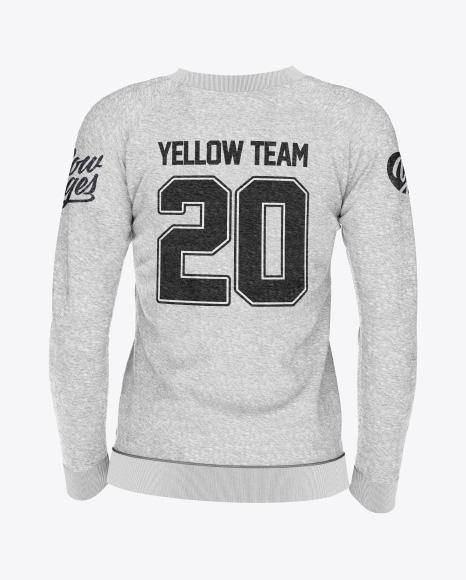 5b2569ced7582 Women's Melange Sweatshirt Mockup - Back View templates
