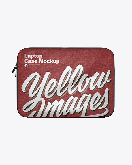 Melange Laptop Case Mockup - Front View