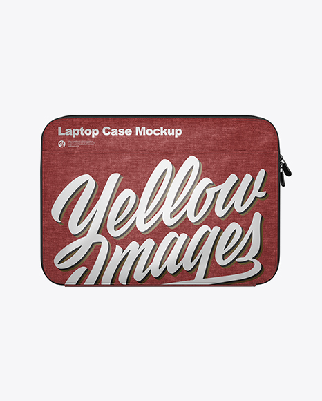 Melange Laptop Case Mockup - Back View