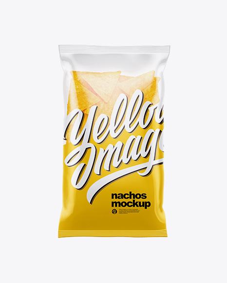 Clear Plastic Bag With Nachos Mockup