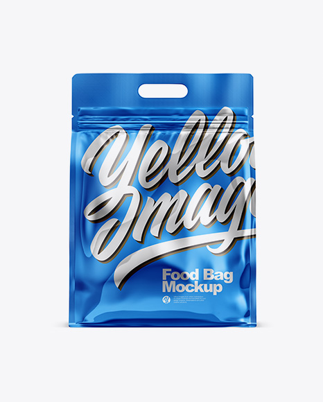 Metallic Stand-up Food Bag Mockup