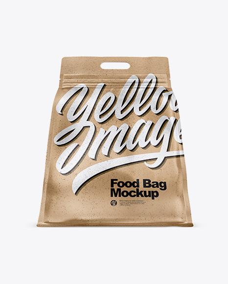 Kraft Paper Stand-up Food Bag Mockup - Hero Shot