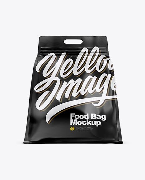 Glossy Stand-up Food Bag Mockup - Hero Shot