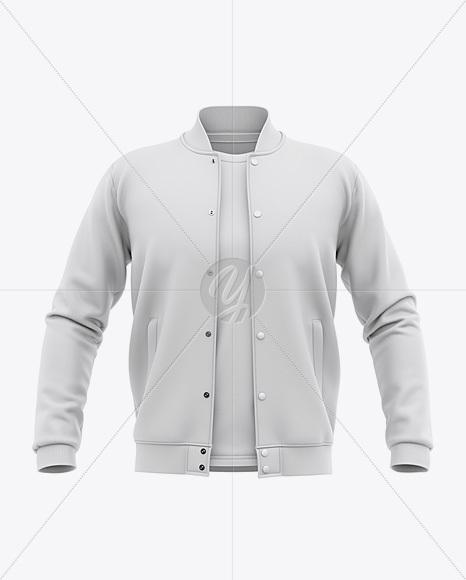 Bomber Jacket Mockup Psd Free : bomber, jacket, mockup, Varsity, Jacket, Mockup, Front, Baseball, Bomber, T-shirt, Apparel, Mockups, Yellow, Images, Object