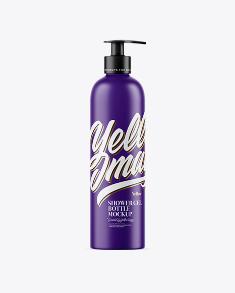 Matte Shower Gel Bottle Mockup