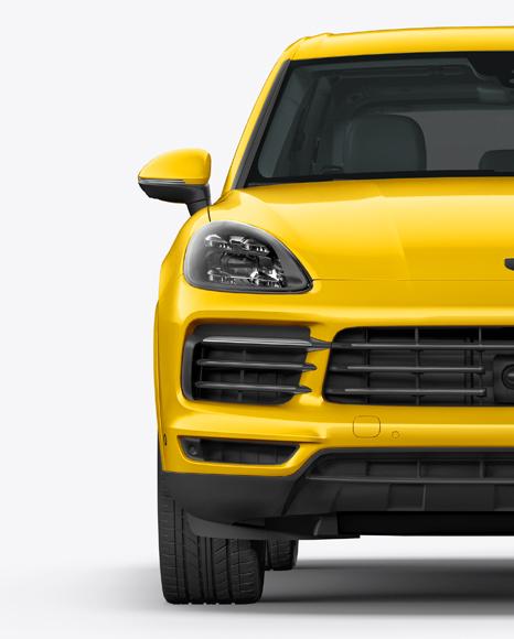 Luxury Crossover 5-doors Mockup - Front View