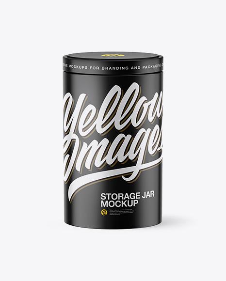 Matte Storage Jar Mockup - High-Angle Shot