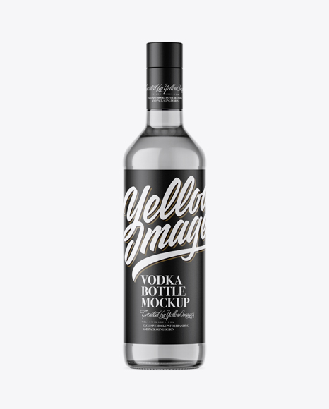 500ml Grey Glass Vodka Bottle Mockup