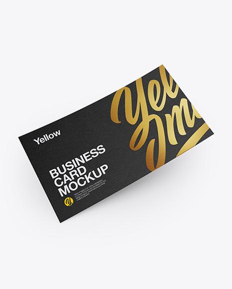 Business Card Mockup - High Angle Shot