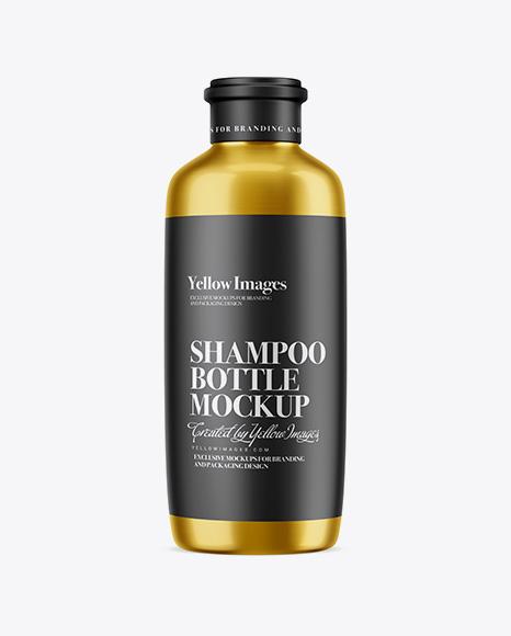 Metallic Shampoo Bottle Mockup