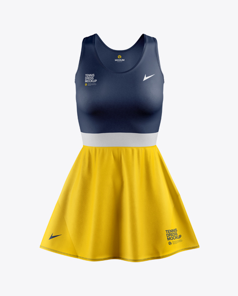 Women's Tennis Dress Mockup - Front View