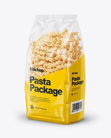 Fusilli Pasta Mockup - Half Side View