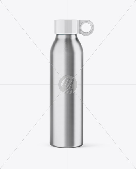 Download Aluminum Water Bottle Mockup Yellow Images