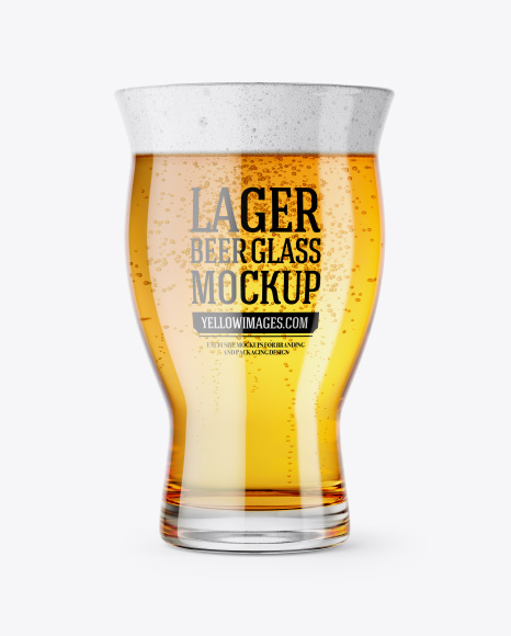 Revival Glass With Lager Beer Mockup