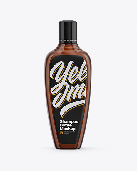 Amber Shampoo Bottle Mockup