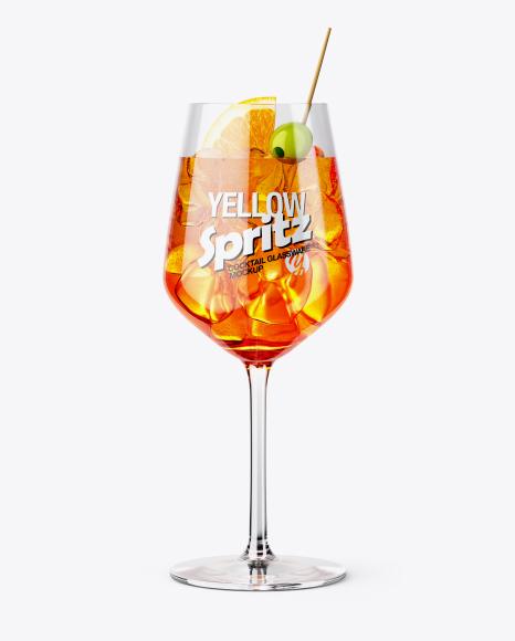 Spritz Cocktail Glass Mockup