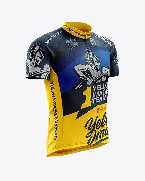Men's Classic Cycling Jersey mockup (Right Half Side View)