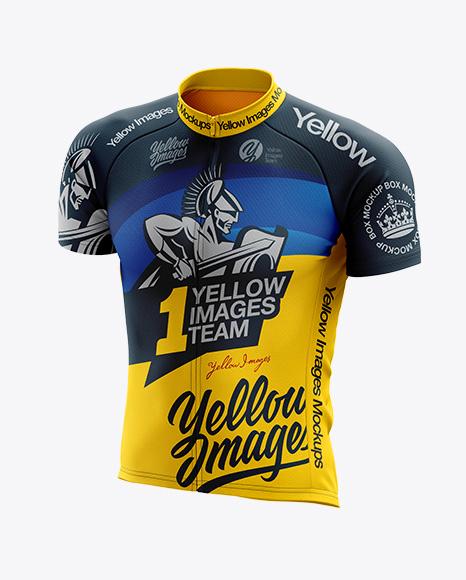 Men's Cycling Jersey mockup (Half Side View)