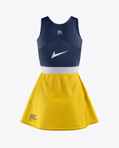 Women's Tennis Dress Mockup - Back View