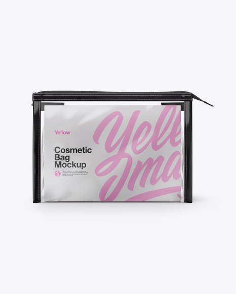 Cosmetic Bag Mockups - Front View