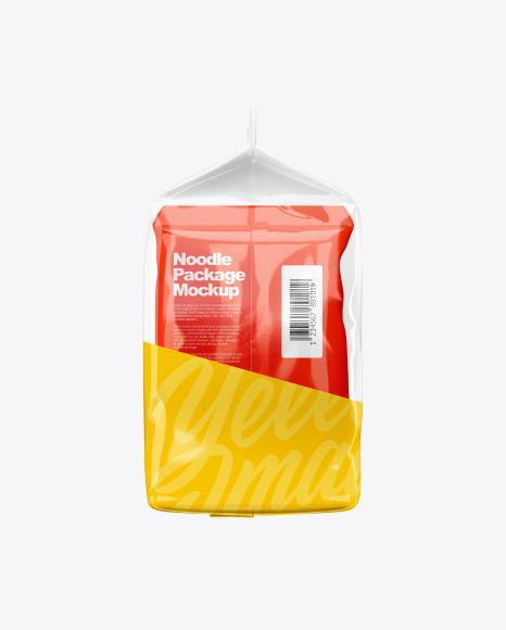 5 Noodle Packs Mockup - Right & Left Sides View