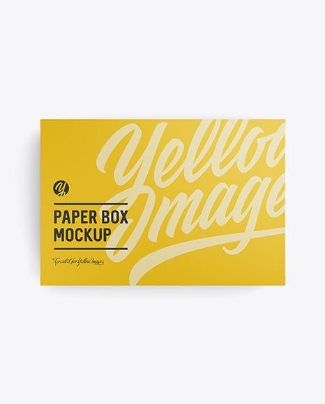 Matte Box Mockup - Top View