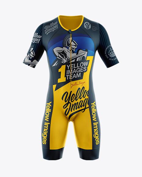 Men's Cycling Speedsuit Mockup - Front View