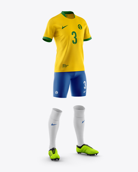 Men's Full Soccer Kit Mockup - Half Side View